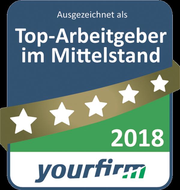 Auszeichnung Top-Arbeitgeber im Mittelstand 2018