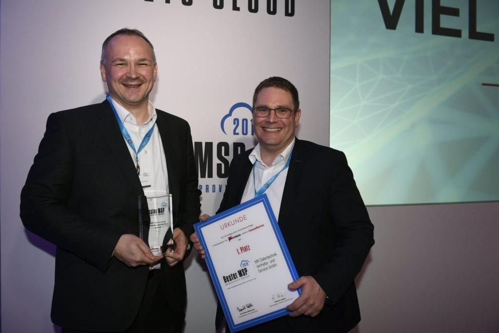 Auszeichnung zum besten Managed Service Provicer 2019