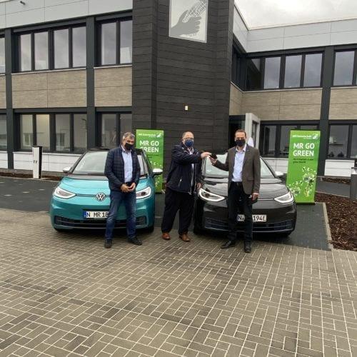 Übergabe der VW ID3 auf dem MR Parkplatz