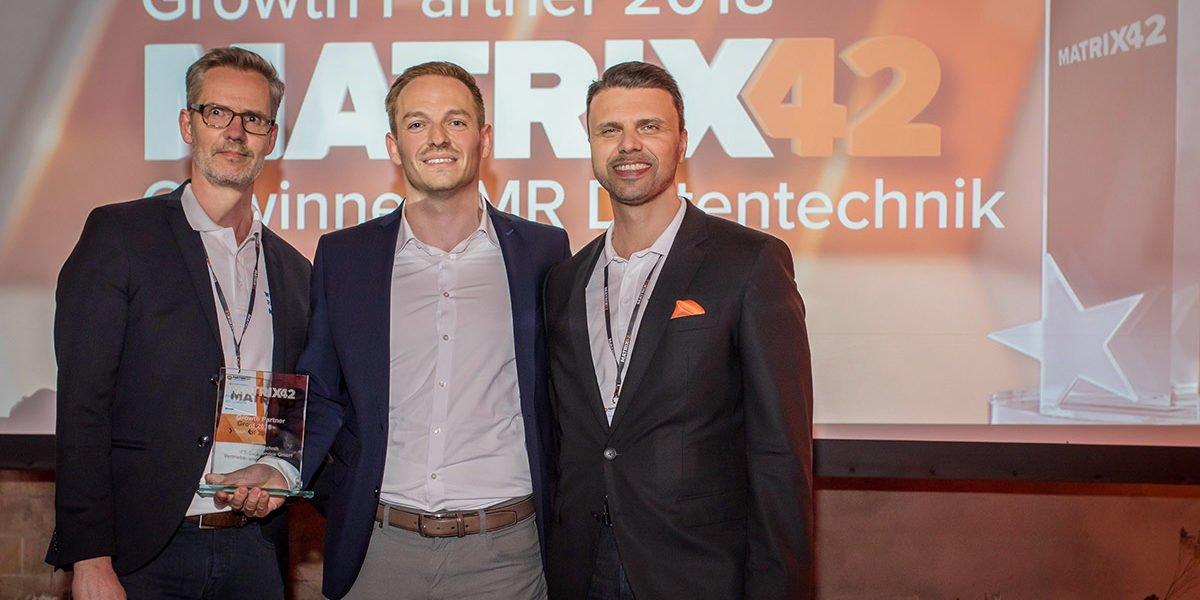 Foto Auszeichnung Matrix42 Goldpartner 2019