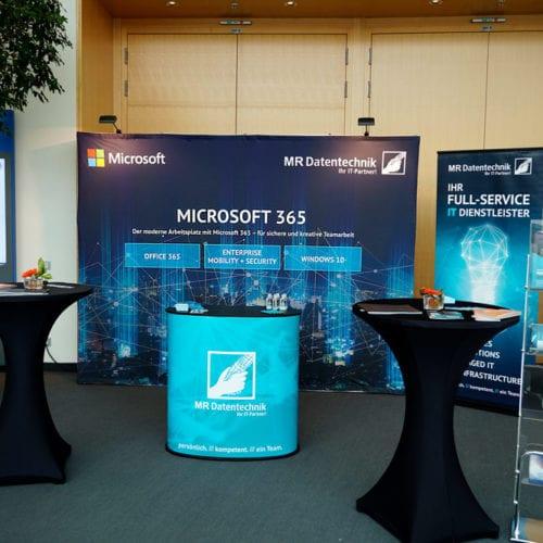 MR Datentechnik Messestand Microsoft 365