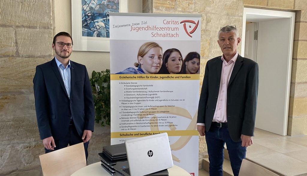 Bild der Spendenübergabe bei der Caritas Schnaittach