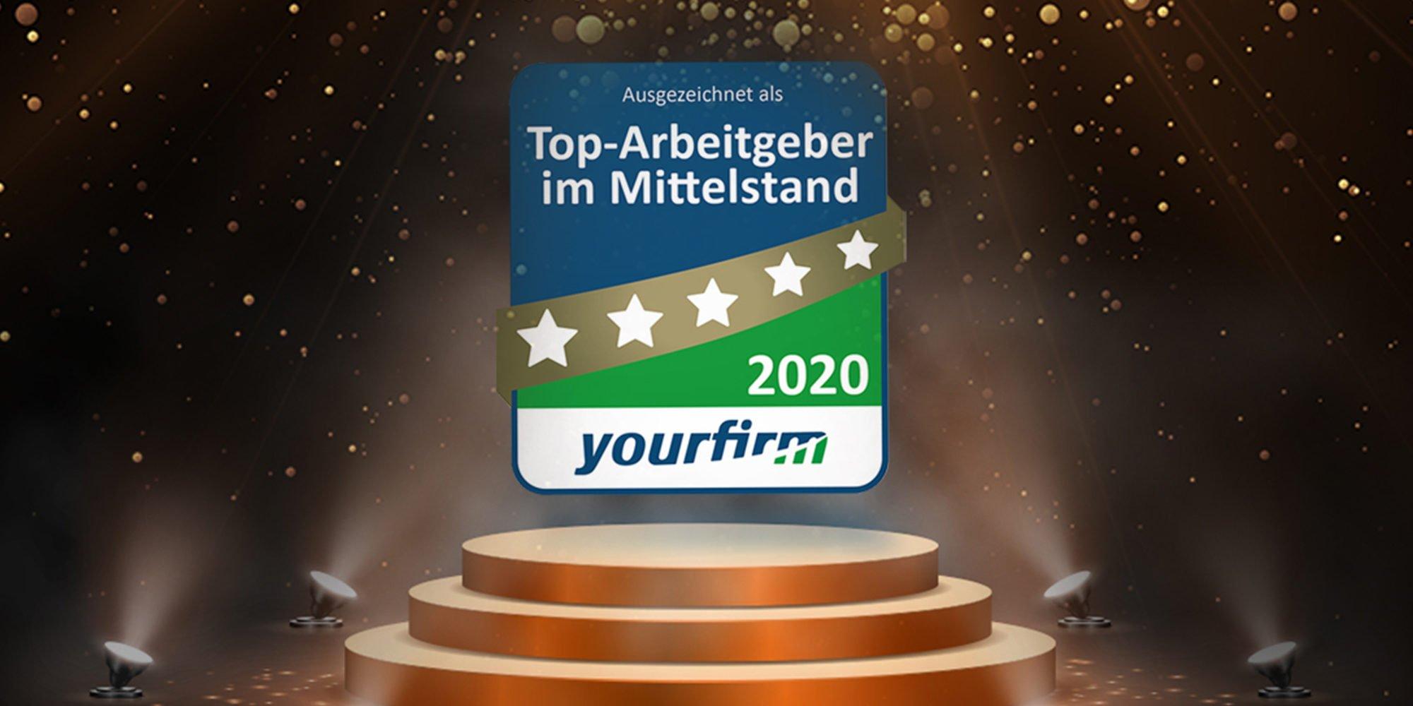 Headergrafik zur Auszeichnung Top Arbeitgeber 2020