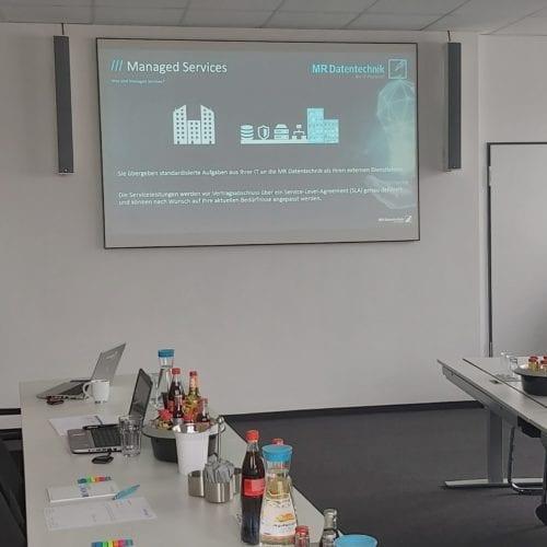 MR Inhouse Vortrag zu Managed Workplace