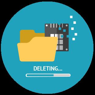 Symbolbild Datenlöschung Festplatte