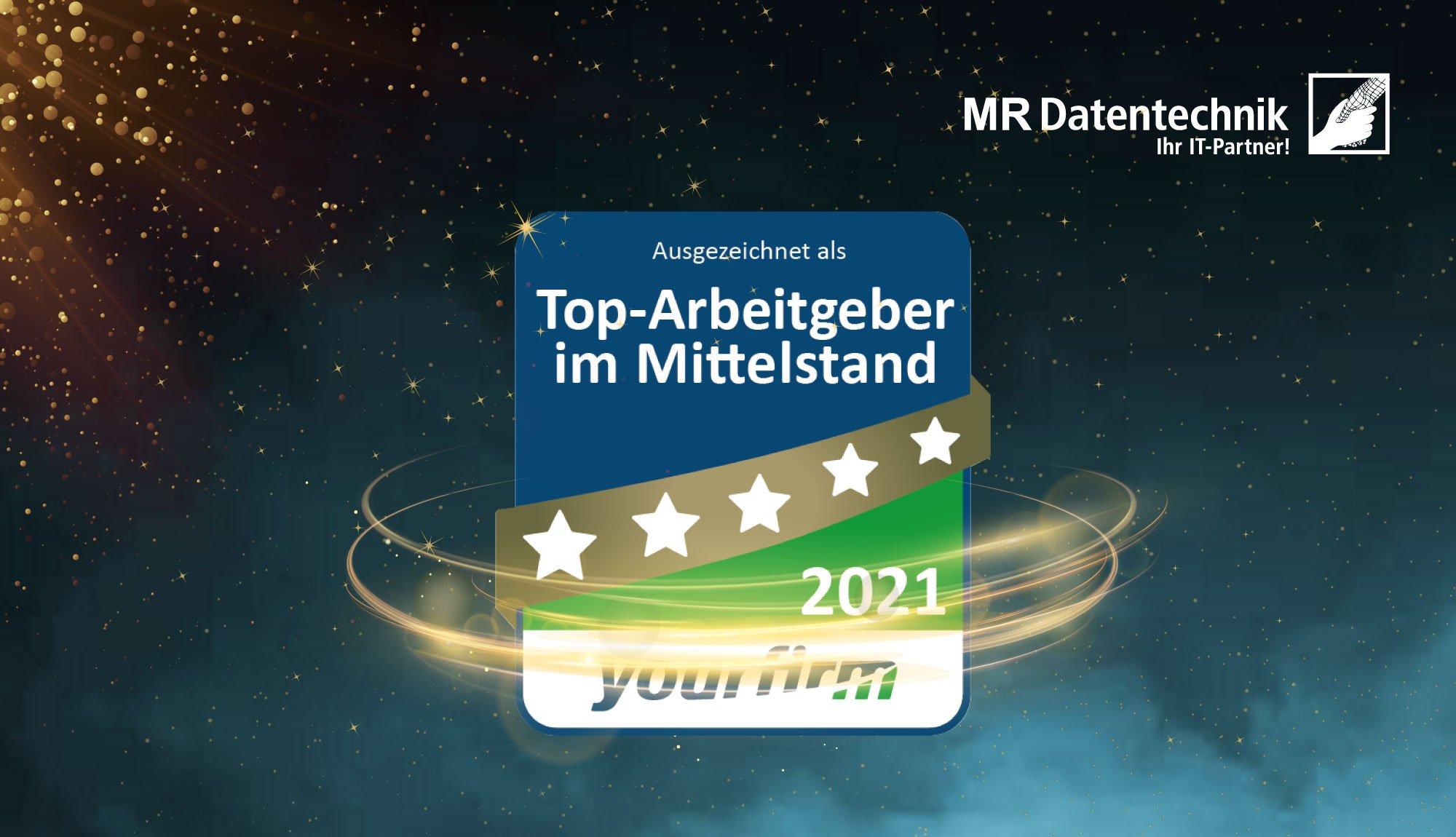 MR Datentechnik ist Top-Arbeitgeber 2021 Siegel