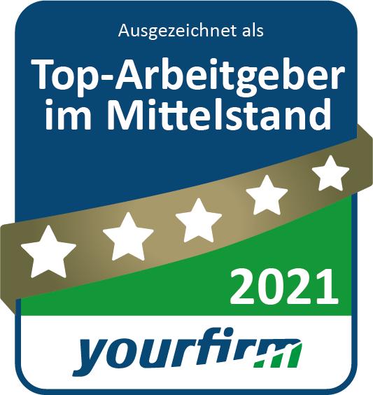 MR Datentechnik Siegel Auszeichnung zum Top-Arbeitgeber 2021