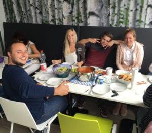 MR Datentechnik gemeinsames Mittagessen in Nürnberg