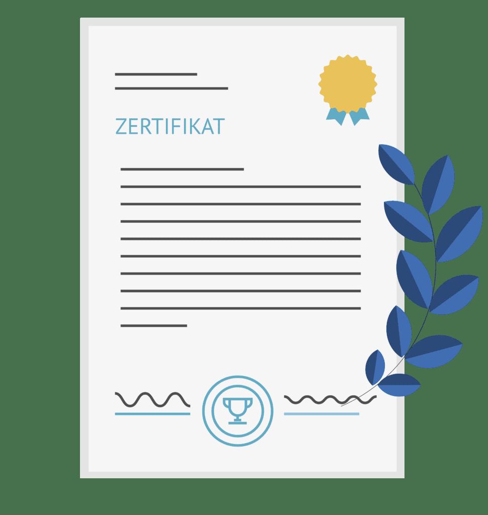 Bewerbungsprozess Zertifikat Symbolbild bei MR Datentechnik