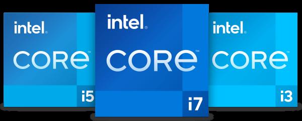Intel 11th core processor 3 family badges